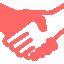 Logo mains rose A2 Conseil Metz